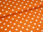 Preview: Baumwoll Stoff Punkte orange