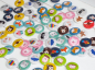 Preview: Button Fuchs mint 25mm