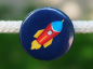 Preview: Button Rakete dunkelblau 25mm