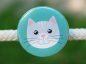 Preview: Button Katze mint 25mm