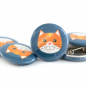 Preview: Button Katze petrol 25mm