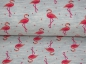Preview: Jersey Stoff Flamingo mint meliert