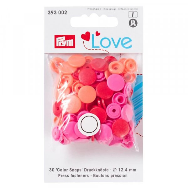 Color Snaps Druckknöpfe Mix Rot Pink Lachs | PRYM LOVE