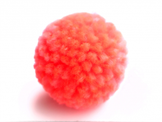 Bommel Pompon 30mm NEON orange/pink