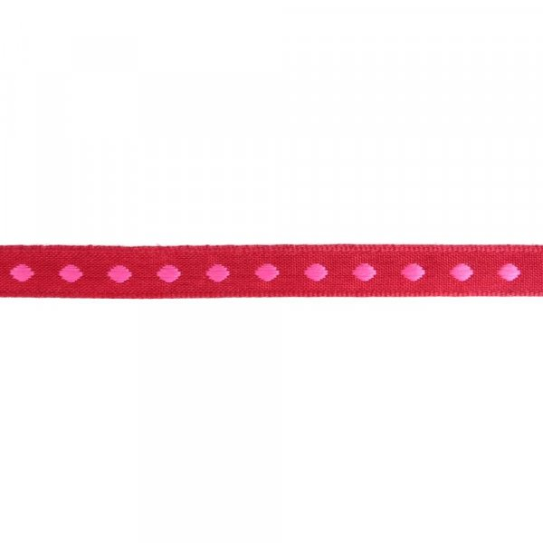 Webband 10mm Punkte Rot Pink
