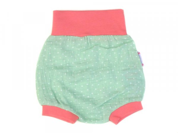 Baby Windelhose Shorts Punkte Mint Lachs