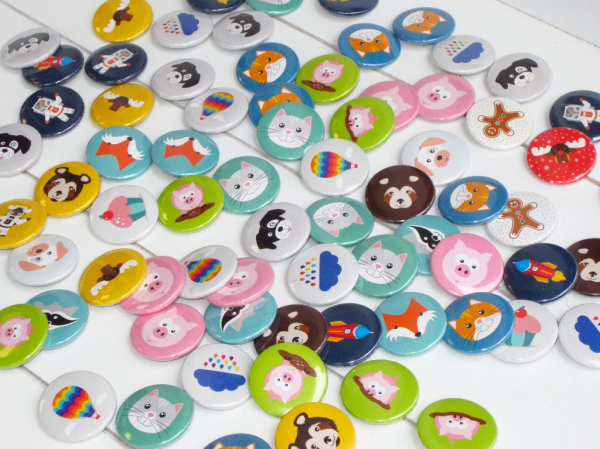 Button Katze mint 25mm