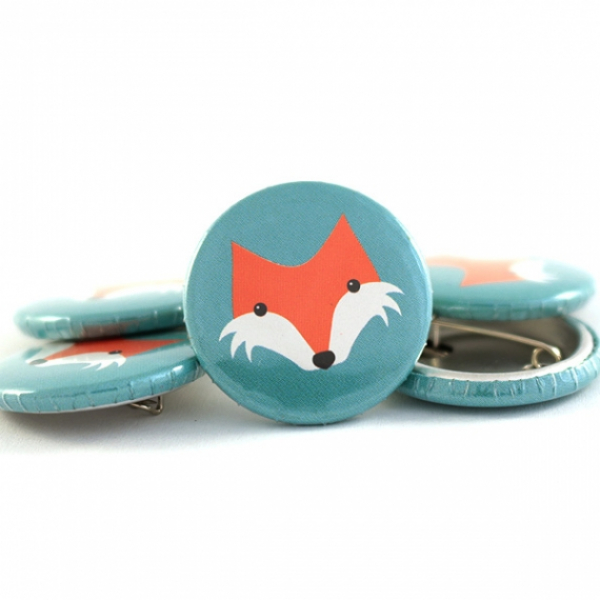 Button Fuchs mint 25mm