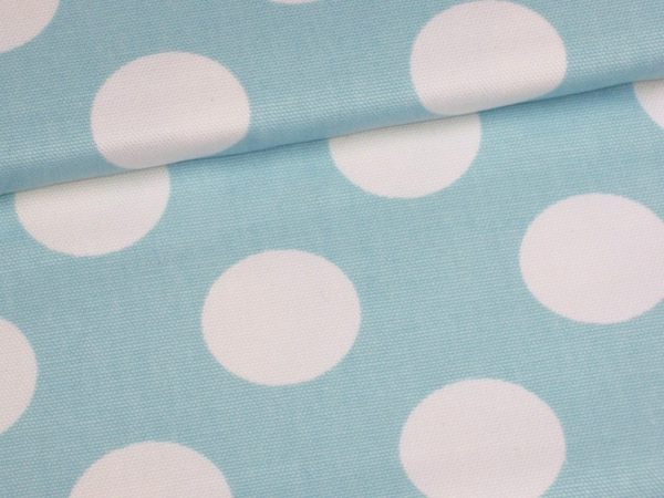 Canvas Stoff Dots hellblau